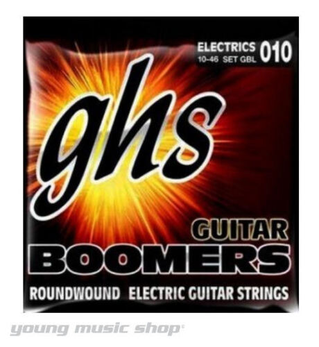 12 PACK SET GHS Boomers Electric Guitar Strings 10-46 Light GBL
