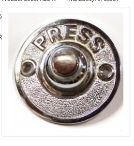 Chrome Door Bell Button