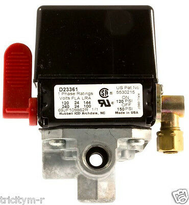 5140153-08 Air Compressor Pressure Switch  D23361  150/120  Craftsman  Devilbiss