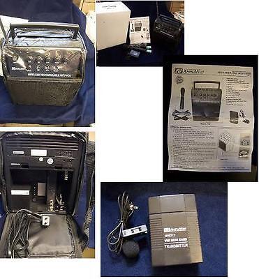 Amplivox Sw212 Wireless Mity-vox PORTABLE SOUND SYSTEM pa+ handheld +lapel (Mity Vox Pa System)