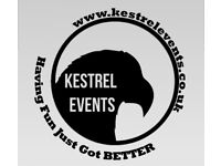 Kestrel Events - Party and Events DJ. Weddings, Birthdays, Corporate. Now taking bookings for 2017