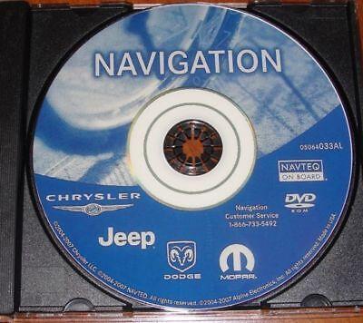 Chrysler Dodge Jeep REC RB1 GPS Navigation Map Update DVD Disc   ver 05064033AL