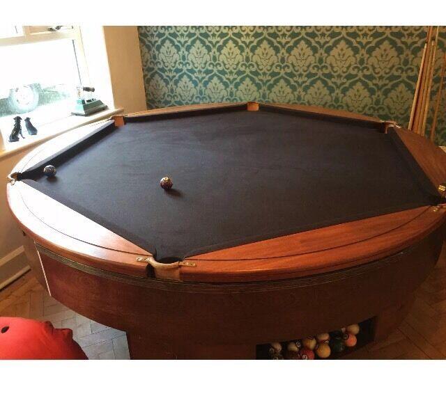 Rotapool Round Hexagonal Rare Custom Made Pool Snooker