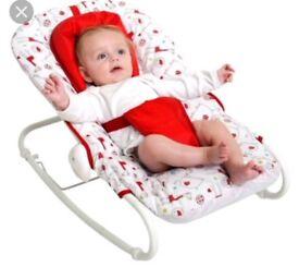 HELLO ERNEST RED KITE BABY BOUNCER ROCKER UNISEX FEEDING CHAIR