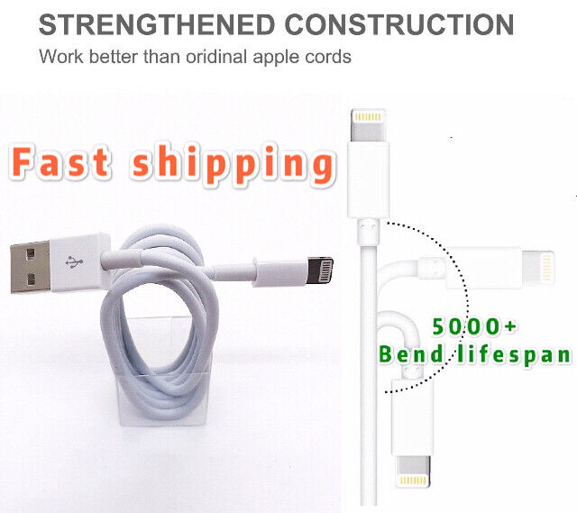 Lot USB lighting Sync Data Charging Charger Cable Cord for i