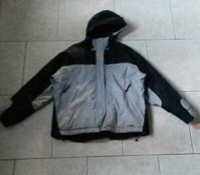 LykNu LL BEAN ski board jacket,taped seams,snow skirt,womens L,thick insulation
