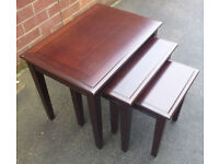 Nest of 3 Tables .. from the Morris Furniture Company ij Glasgow