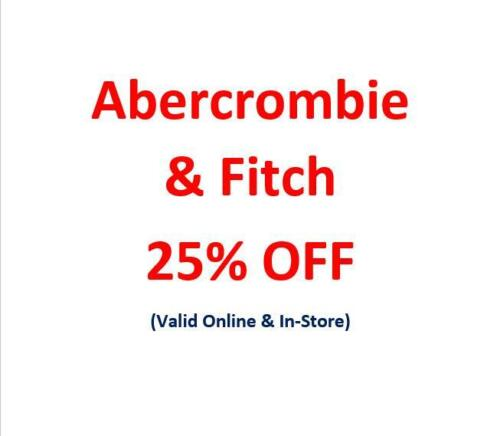 Abercrombie & Fitch A&F AF 25% Promo Discount (Sales & Clearance)