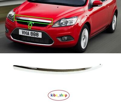 FORD FOCUS 2008 2011 MK2 FACELIFT MODEL CHROME BONNET HOOD TRIM MOLDING 1537494