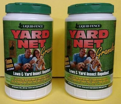 Release Granules - ( 2 ) Liquid Fence YARD NET Granules Time Release Yard Insect Repellant, 2 lb