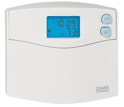 CTC 43154 Digital Programmable Wall Thermostat 1 Heat / 1 Cool 5/2 Day Program 5/1/1 Program Digital Thermostat