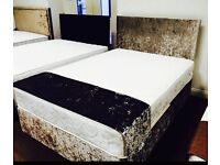 Double velvet bed new