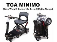 TGA Minimo Mobility scooter Battery UPGRADE + FREE MATCHED CHARGER