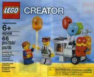 NEW Sealed Retired LEGO Creator 40108 Balloon Cart Building Play Set Polybag