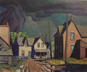 """A.J. Casson Limited Edition """"Approaching Thunderstorm"""" Cambridge Kitchener Area image 1"""