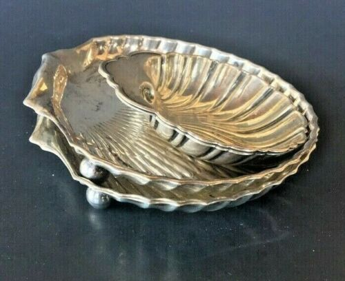 3(THREE) BIRKS STERLING SILVER SHELL DISHES