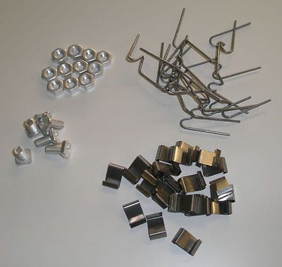 Greenhouse Repair Kit / Spares Parts - 100 W & 100 Z Clips, 100 Nuts & 100 Bolts