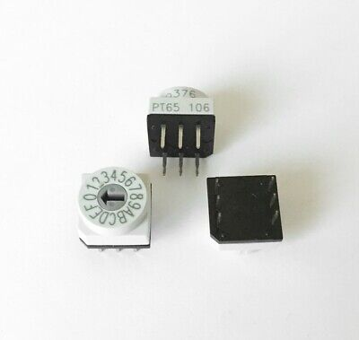 16-position Rotary Code Switch Hexadecimal Complementapem Pt65 106 New