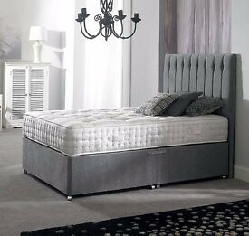 NEW ARRIVAL! 70% OFF: DOUBLE SUPER ROYALTY GREY DIVAN BED + SUPER ROYALTY MATTRESS + HEADBOARD""