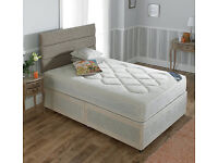 """4ft 6"""" double bed 10"""" deep turnable mattress and matching divan .Brand new can deliver local."""