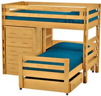 100% Solid Canadian made bunk beds,twin/twin up to Queen/Queen