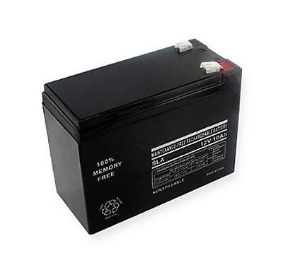 12 Volt 10 AH Rechargeable Sealed Lead Acid Battery (SLA) F2 .250 12v 10ah on Rummage