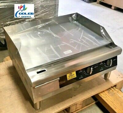New 24 Electric Griddle Flat Grill Stove Countertop Nsf Etl 208240v Commercial
