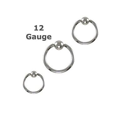 Single Heavy 12g Gauge Captive Ring 7/16