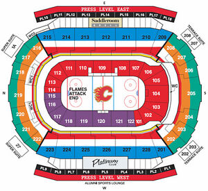 Flames vs. Oilers - Home opener - Oct 14 @ 7pm Row 3 PL3
