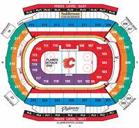 Calgary Flames vs. Anaheim Ducks SECTION 211 ROW 20