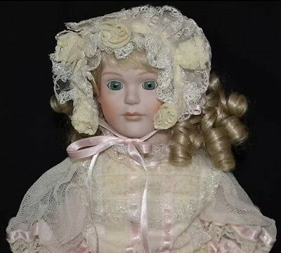 "RARE 16"" LE #556/1000 Porcelain Doll Gorham Small Wonders Madeline wStand NIB"