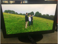 """Panasonic Viera 37"""" Full Hd Slimline Tv Built In Freeview Remote & Stand Excellent Condition"""