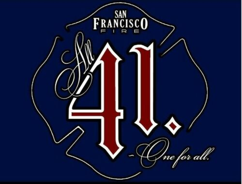 San Francisco Fire 41 3D SIGN ART Badge emblem Fire Department patch New York