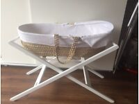 Lovely John lewis moses basket