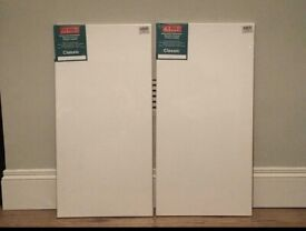 2 x Artists' Stretched Canvas' 40x80cm. (New. Ex Shop Stock)