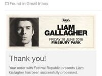 2x Liam Gallagher Finsbury Park Festival SOLD OUT