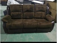 3+2+1 Brown Fabric Recliner Sofa Sets **TRADE PRICES DIRECT TO PUBLIC***