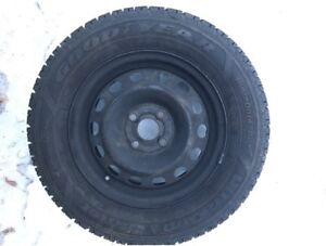 4 New Goodyear UltraGrip Winter Tires with Rims!