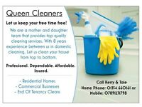 Queen Cleaning. Let us keep your free time free!