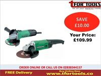 Hitachi Angle Grinder Twin Pack 230mm & 115mm 110v