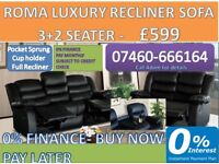 rome 3 and 2 recliner - new a1076