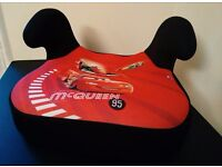 Car seat - 15-36 kg - Lightning McQueen black and red - almost new