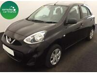 £118.02 PER MONTH BLACK 2014 NISSAN MICRA 1.2 VISIA 5 DOOR PETROL MANUAL