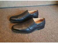 Men's shoes black leather size 11