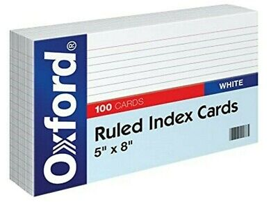 Oxford 51 5 X 8 Ruled Index Cards - White 100pack 1 Pack