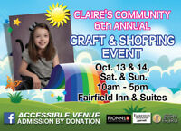 Claires community 6th Annual shopping and craft event