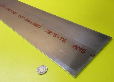 7075 Aluminum Sheet T6 .125 18 Thick X 6.0 Width X 24.0 Length