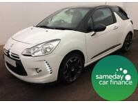 £141.64 PER MONTH CITROEN DS3 1.6 VTI STYLE PLUS 3 DOOR MANUAL PETROL
