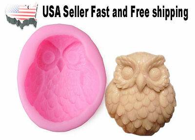 Owl DIY Handmade Soap Mold Silicone Molds US Seller