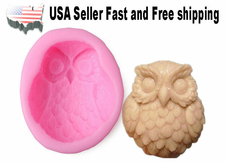 Owl DIY Handmade Soap Mold Silicone Molds US Seller